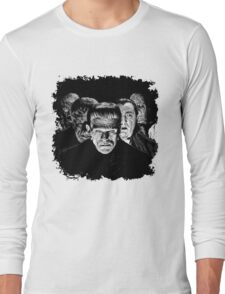 Classic Monsters Black & White POP! Long Sleeve T-Shirt