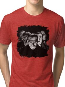 Classic Monsters Black & White POP! Tri-blend T-Shirt