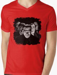 Classic Monsters Black & White POP! Mens V-Neck T-Shirt