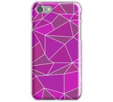 Triangular abstract pink iPhone Case/Skin