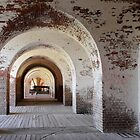 Arches of Fort Pulaski by Carol Bailey White