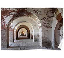 Arches of Fort Pulaski Poster