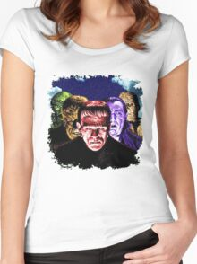 Classic Monsters COLOR POP! Women's Fitted Scoop T-Shirt
