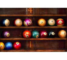 Hobby - Pool - Let's play billiards Photographic Print