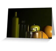 Fruits behind the glasses Greeting Card