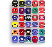 8-Bit Hockey Jerseys Metal Print