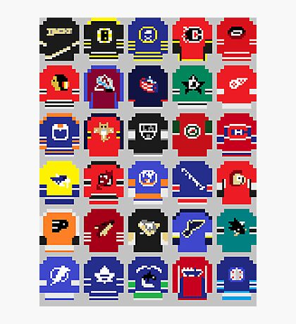 8-Bit Hockey Jerseys Photographic Print