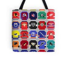 8-Bit Hockey Jerseys Tote Bag