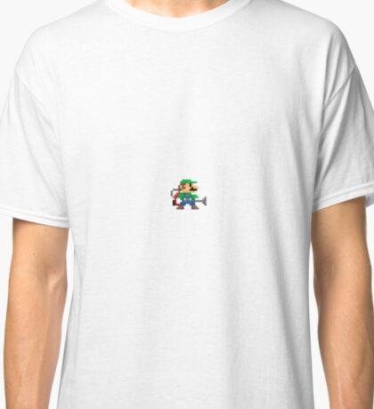 Luigi's 8-Bit Mansion Classic T-Shirt