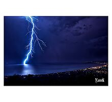 SPRING LIGHTNING OVER PORT PHILLIP Photographic Print