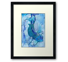 Blue Koi Framed Print