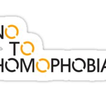 No to Homophobia 2 Sticker