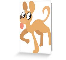 simplistic dog  Greeting Card