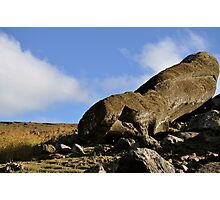 Fallen Moai Photographic Print
