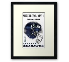 SUPERBOWL 48 CHAMPIONS Framed Print