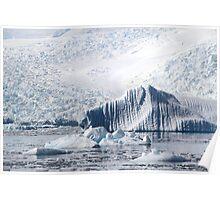 Cierva Cove with Iceberg & Glaciers  Poster