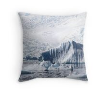 Cierva Cove with Iceberg & Glaciers  Throw Pillow