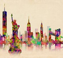 NEW  YORK CITY SKYLINE by Daniel-Hagerman