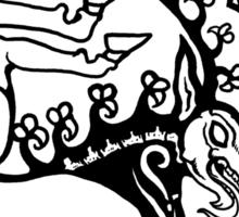 Scythian Antlers Tee Sticker