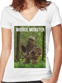 Wookie Monster Women's Fitted V-Neck T-Shirt