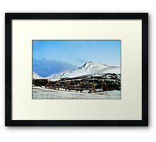 Flat top mountain Framed Print