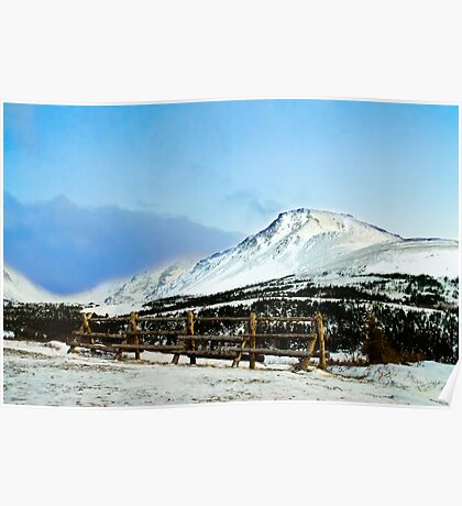 Flat top mountain Poster