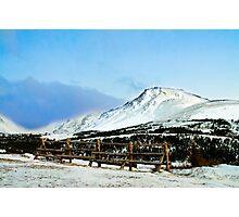 Flat top mountain Photographic Print