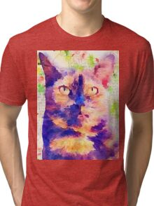 Tortie Mash Mixed Media Tri-blend T-Shirt
