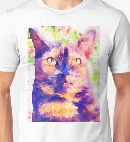 Tortie Mash Mixed Media Unisex T-Shirt