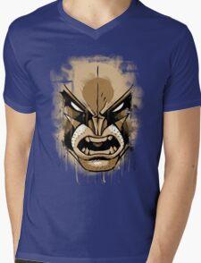wolverine face Mens V-Neck T-Shirt