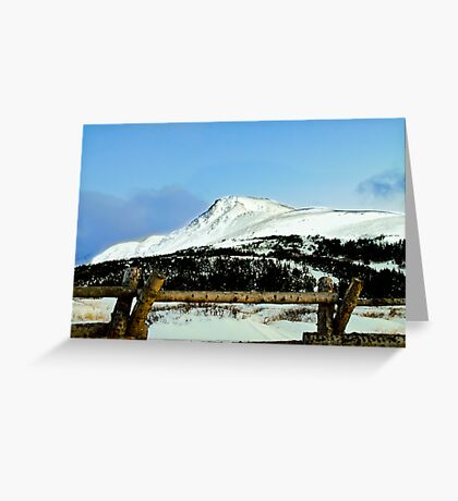 Snowy mountain top Greeting Card