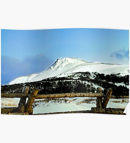 Snowy mountain top Poster