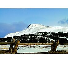 Snowy mountain top Photographic Print