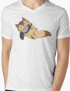 Catbus Kitten Mens V-Neck T-Shirt