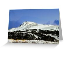 Alaska mountain top Greeting Card