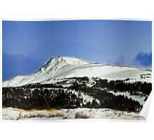 Alaska mountain top Poster