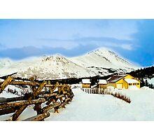 Mountain top cabin Photographic Print