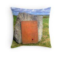 War Memorial, Stornoway Throw Pillow