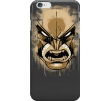 wolverine face iPhone Case/Skin