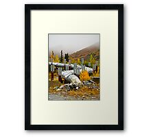 Alaska pipeline Framed Print