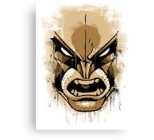 wolverine face Canvas Print
