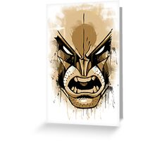 wolverine face Greeting Card
