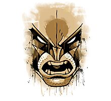 wolverine face Photographic Print