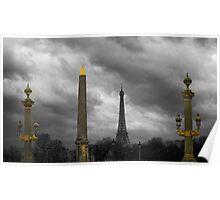 Paris Columns Poster