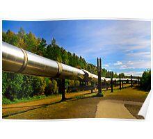 Pipeline Alaska wilderness Poster