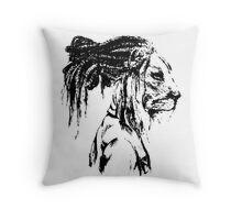 The Lion Man Throw Pillow
