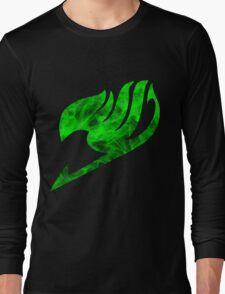 Green Fire Fairy Tail Logo Long Sleeve T-Shirt