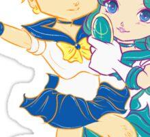 Chibi Sailor Uranus and Chibi Sailor Neptune Sticker