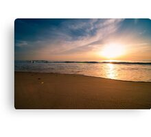 Sunset and beach  Canvas Print