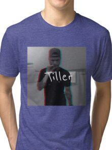 """Tiller"" 3D Graphic Tri-blend T-Shirt"